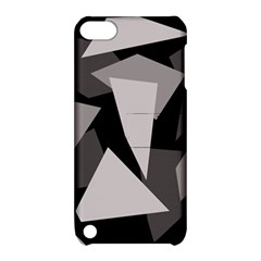 Simple gray abstraction Apple iPod Touch 5 Hardshell Case with Stand