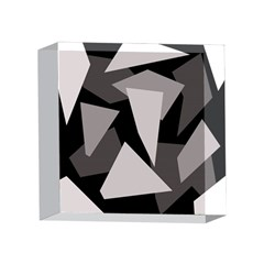 Simple gray abstraction 4 x 4  Acrylic Photo Blocks