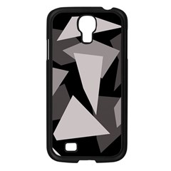 Simple gray abstraction Samsung Galaxy S4 I9500/ I9505 Case (Black)