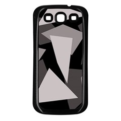 Simple gray abstraction Samsung Galaxy S3 Back Case (Black)
