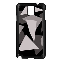 Simple gray abstraction Samsung Galaxy Note 3 N9005 Case (Black)