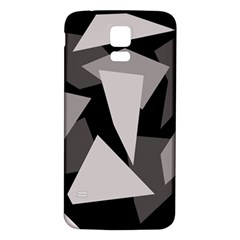 Simple gray abstraction Samsung Galaxy S5 Back Case (White)