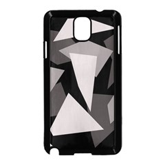 Simple gray abstraction Samsung Galaxy Note 3 Neo Hardshell Case (Black)