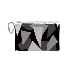 Simple gray abstraction Canvas Cosmetic Bag (S)