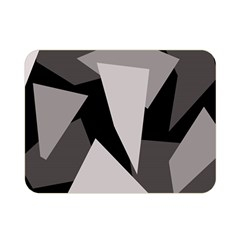 Simple gray abstraction Double Sided Flano Blanket (Mini)