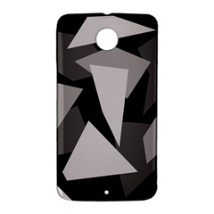 Simple gray abstraction Nexus 6 Case (White)
