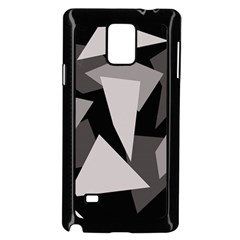 Simple Gray Abstraction Samsung Galaxy Note 4 Case (black)