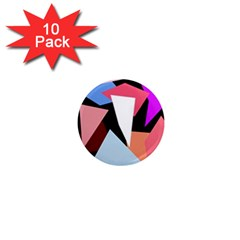 Colorful geometrical design 1  Mini Magnet (10 pack)