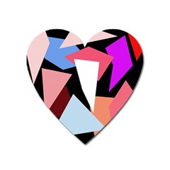 Colorful geometrical design Heart Magnet