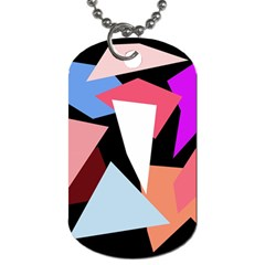 Colorful geometrical design Dog Tag (One Side)