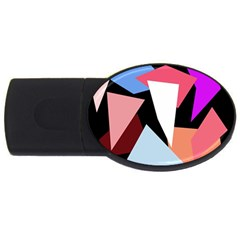Colorful geometrical design USB Flash Drive Oval (1 GB)