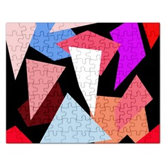 Colorful geometrical design Rectangular Jigsaw Puzzl