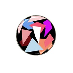 Colorful geometrical design Hat Clip Ball Marker (4 pack)