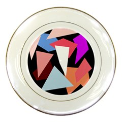 Colorful geometrical design Porcelain Plates