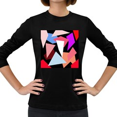 Colorful geometrical design Women s Long Sleeve Dark T-Shirts