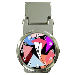 Colorful geometrical design Money Clip Watches