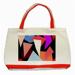 Colorful geometrical design Classic Tote Bag (Red)