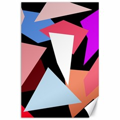 Colorful geometrical design Canvas 24  x 36