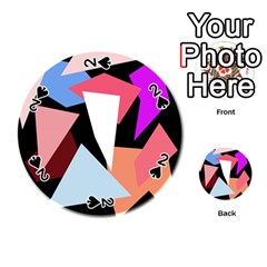 Colorful geometrical design Playing Cards 54 (Round)