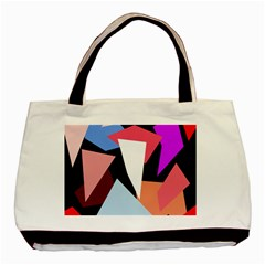 Colorful geometrical design Basic Tote Bag (Two Sides)