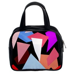 Colorful geometrical design Classic Handbags (2 Sides)