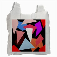 Colorful geometrical design Recycle Bag (Two Side)