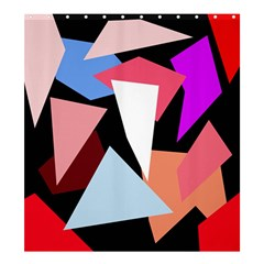 Colorful geometrical design Shower Curtain 66  x 72  (Large)