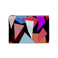 Colorful geometrical design Cosmetic Bag (Medium)