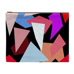 Colorful geometrical design Cosmetic Bag (XL)