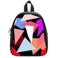 Colorful geometrical design School Bags (Small)