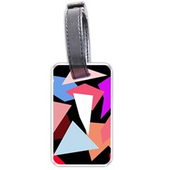 Colorful geometrical design Luggage Tags (One Side)