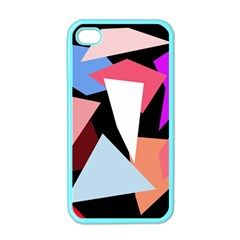 Colorful geometrical design Apple iPhone 4 Case (Color)