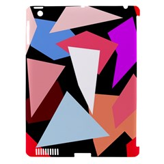 Colorful geometrical design Apple iPad 3/4 Hardshell Case (Compatible with Smart Cover)