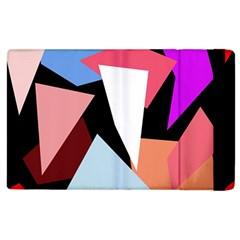 Colorful geometrical design Apple iPad 2 Flip Case