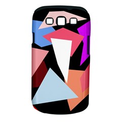 Colorful geometrical design Samsung Galaxy S III Classic Hardshell Case (PC+Silicone)