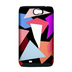Colorful geometrical design Samsung Galaxy Note 2 Hardshell Case (PC+Silicone)