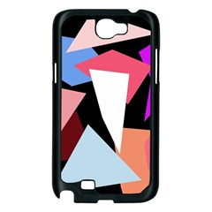 Colorful geometrical design Samsung Galaxy Note 2 Case (Black)