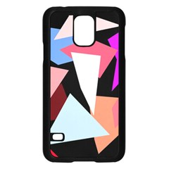 Colorful geometrical design Samsung Galaxy S5 Case (Black)