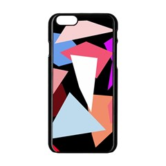 Colorful geometrical design Apple iPhone 6/6S Black Enamel Case