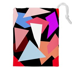 Colorful geometrical design Drawstring Pouches (XXL)