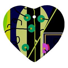 Crazy abstraction by Moma Ornament (Heart)