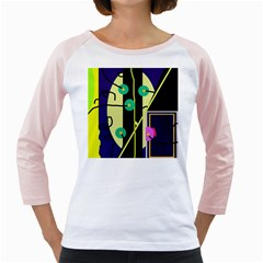 Crazy abstraction by Moma Girly Raglans