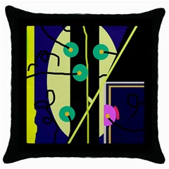 Crazy abstraction by Moma Throw Pillow Case (Black)