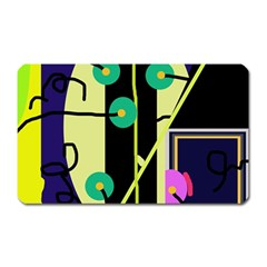 Crazy abstraction by Moma Magnet (Rectangular)