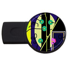 Crazy abstraction by Moma USB Flash Drive Round (2 GB)