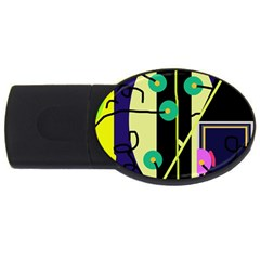 Crazy abstraction by Moma USB Flash Drive Oval (2 GB)