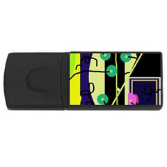 Crazy abstraction by Moma USB Flash Drive Rectangular (2 GB)
