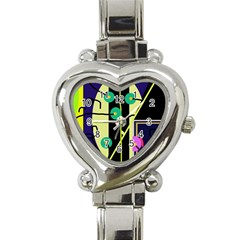 Crazy abstraction by Moma Heart Italian Charm Watch