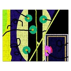 Crazy abstraction by Moma Rectangular Jigsaw Puzzl