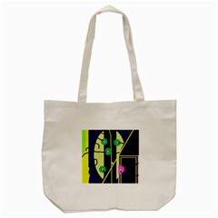 Crazy abstraction by Moma Tote Bag (Cream)